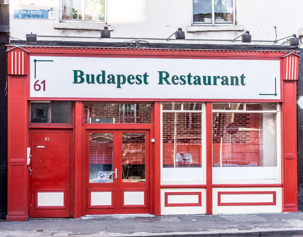 Opened For The First Time Today - Budapest Restaurant At 61 Bolton Street