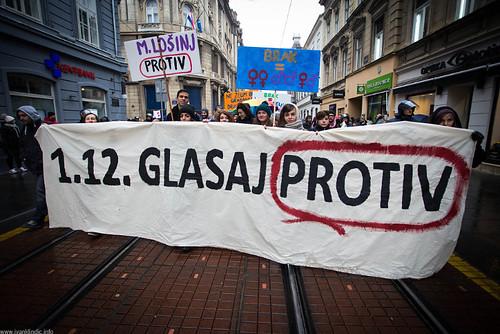 "Protest ""I vote Against"""