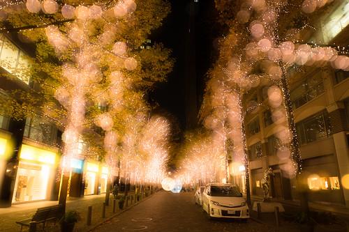 Light decoration in Marunouchi, Tokyo