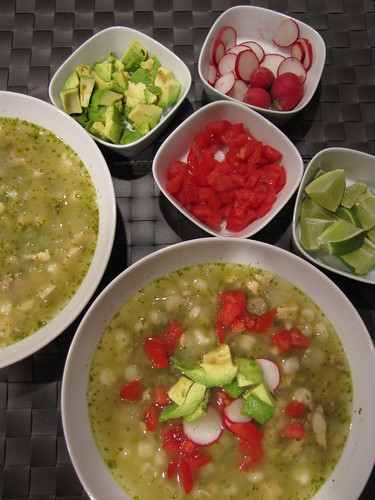 Pozole Verde with Turkey or Chicken