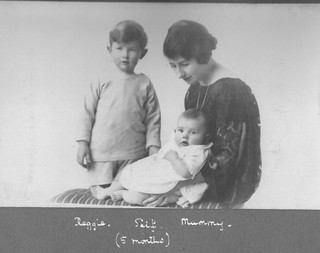 Reginald and John Wilson Harland with Mother Ida Maud Harland nee Bellhouse