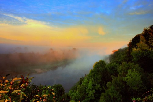 morning mist fog sunrise canon river landscape day drohiczyn cesarz marcelxyz