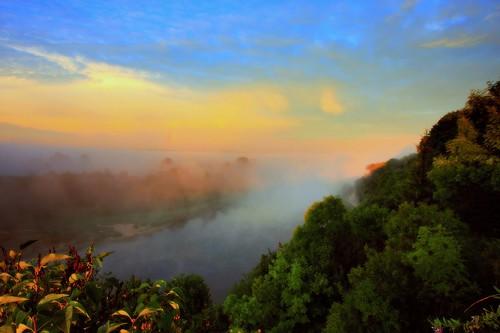 morning mist fog sunrise canon river landscape day drohiczyn cesarz marcelxyz