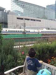 交通会館で新幹線を見たよ! 2013/11