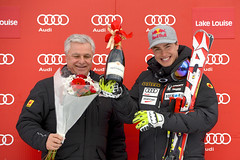 Erik Guay earns the honour of top Canadian with an 8th place finish at the FIS Alpine World Cup in Lake Louise, CAN