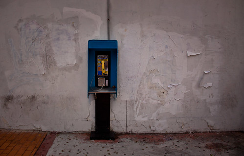 Blue Telephone Booth in South Beach - Miami Beach, FL