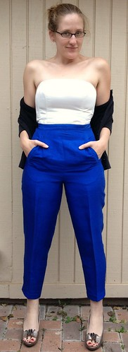 Cobalt Blue Silk Slacks