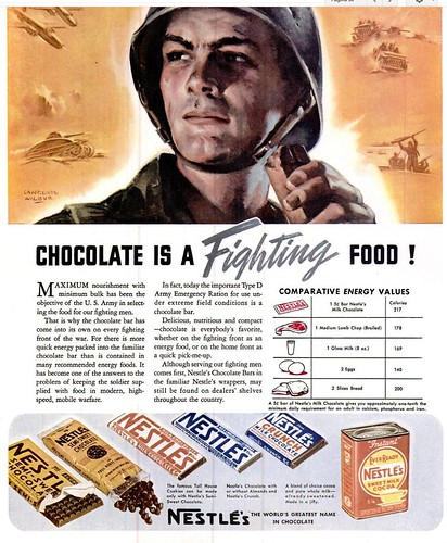 1942 - NOV - 19 - LIFE MAG - NESTLE MILITARY CHOCOLATS by roitberg