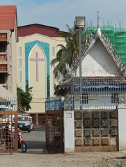 One of a Few Christian Churches in Phnom Penh