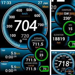 via Ulysses Speedo Meter :) :D in Jet lite at Kolkata to Bangalore