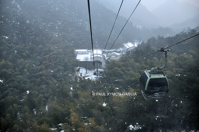 China: Yungu Cable Car, Huangshan, Anhui