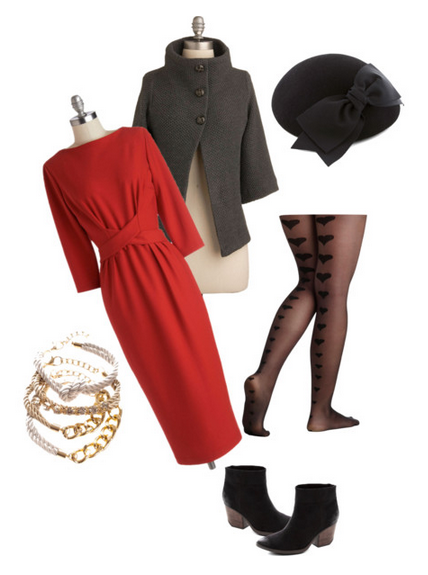 Valentine, outfit, red, dress, Never Fully Dressed, withoutastyle,