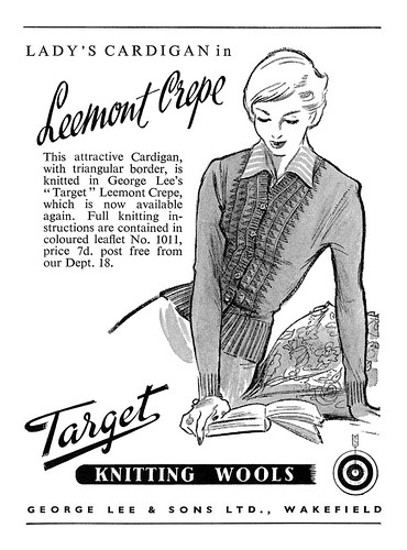 1950 Target Knitting Wools ad by totallymystified