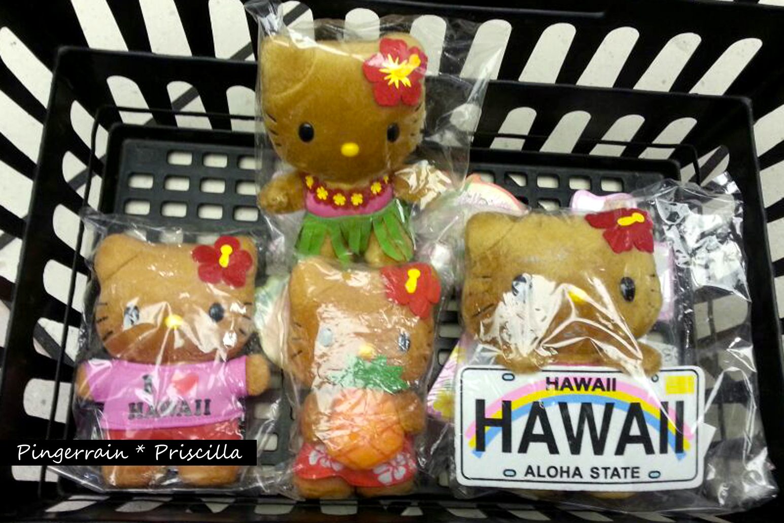Hawaiian Hello Kitty Plushies