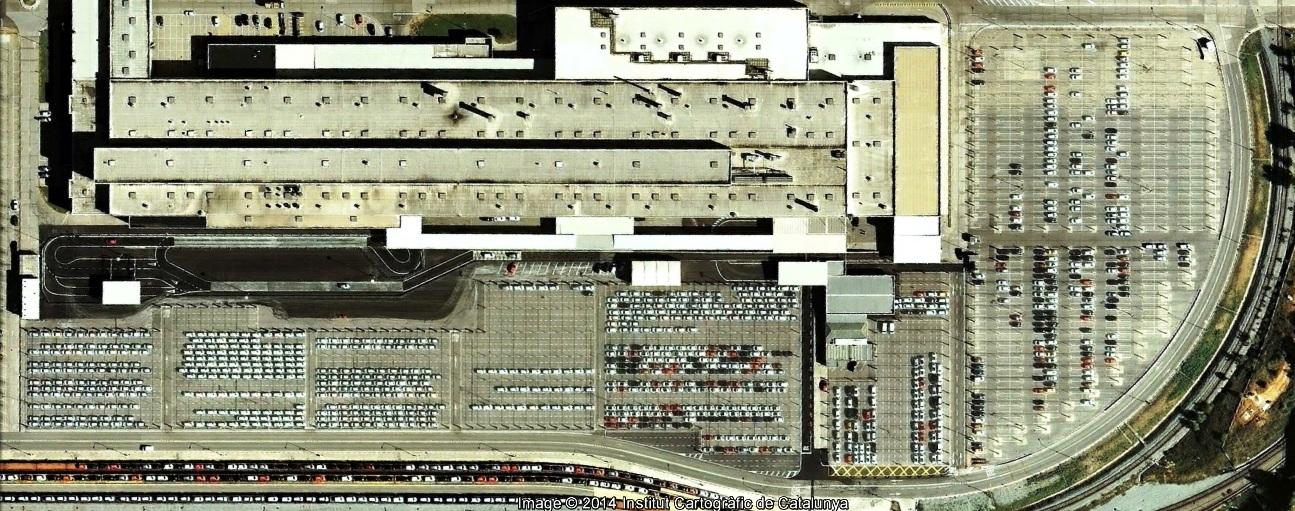 antes, urbanismo, foto aérea, desastre, urbanístico, planeamiento, urbano, construcción, Parking de la SEAT, SEAT, parking, placas solares,martorell