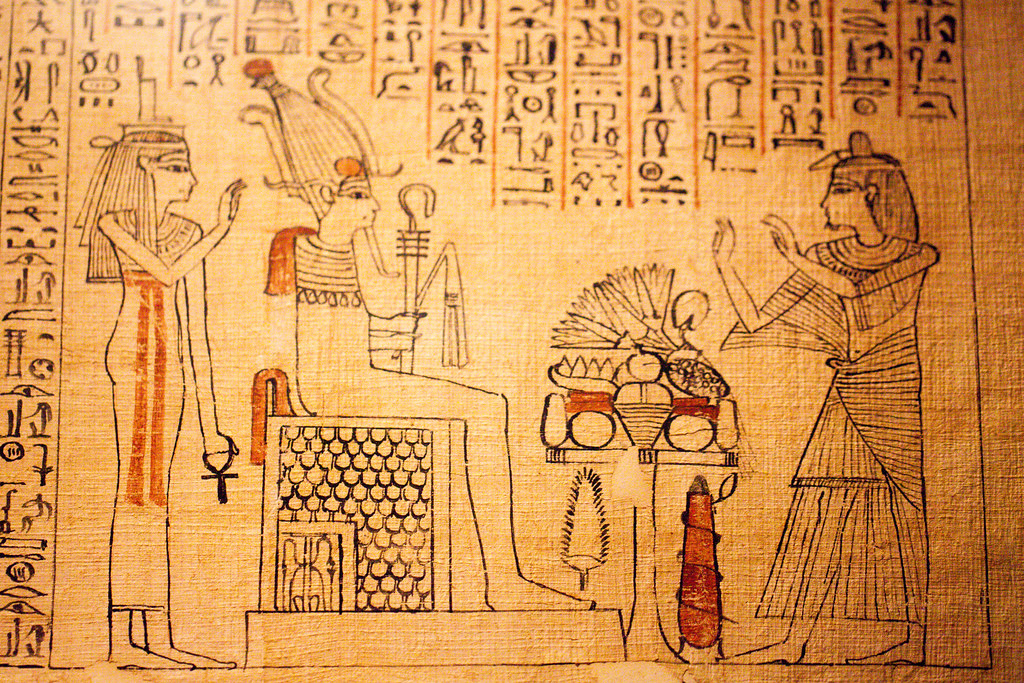 Book of the Dead scroll of the priest of Amun, Khonsu-renp…   Flickr