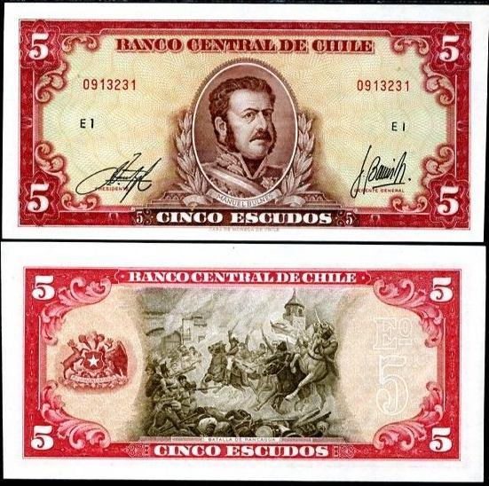 5 Escudos Čile 1964, Pick 138