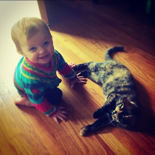 Miss M + Cleo = Cutest EVER!