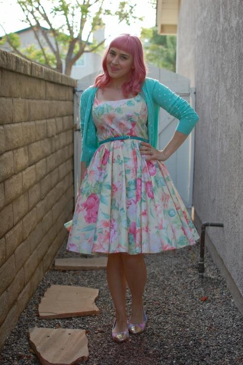 vintage floral dress 3