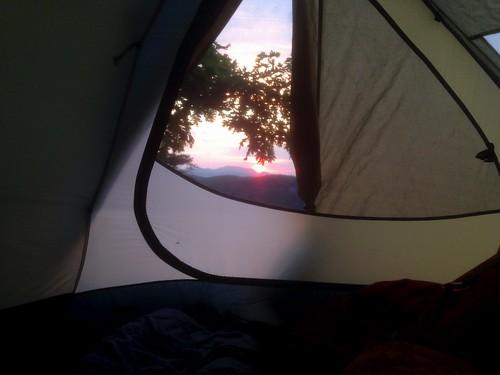 camping sunrise tent chattahoocheenationalforest cowrockmountain reitaj3