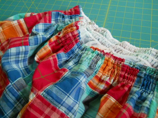 patchwork skirt in progress