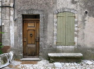 A handsome old façade: Saignon, Vaucluse, Provence