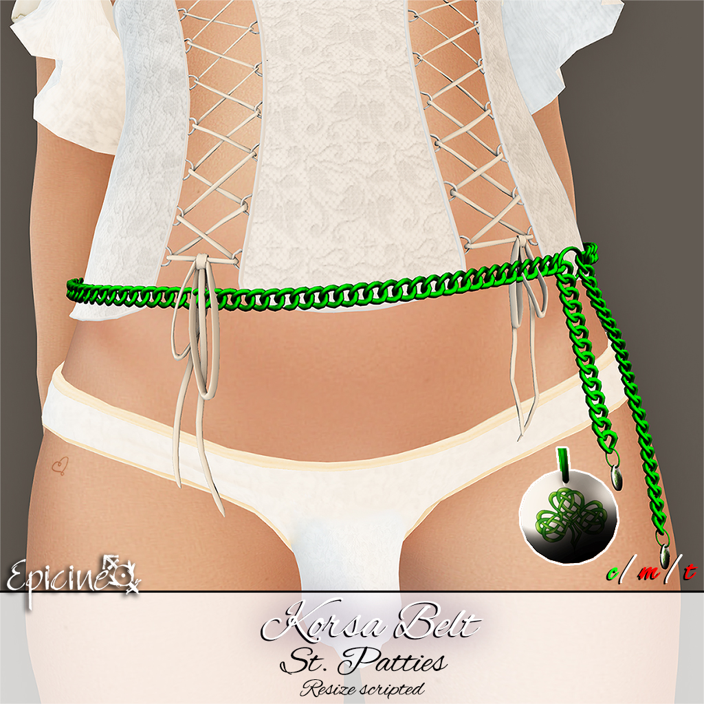 Epicine - Korsa Belt - St. Patties - SecondLifeHub.com