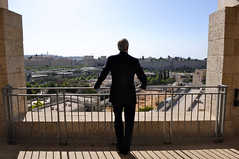 Secretary Kerry Looks Out at the Old City in Jerusalem