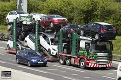 Scania P420 6x2 Car Transporter - AY12 AOB - Roseann - Eddie Stobart - M1 J10 Luton - Steven Gray - IMG_9774