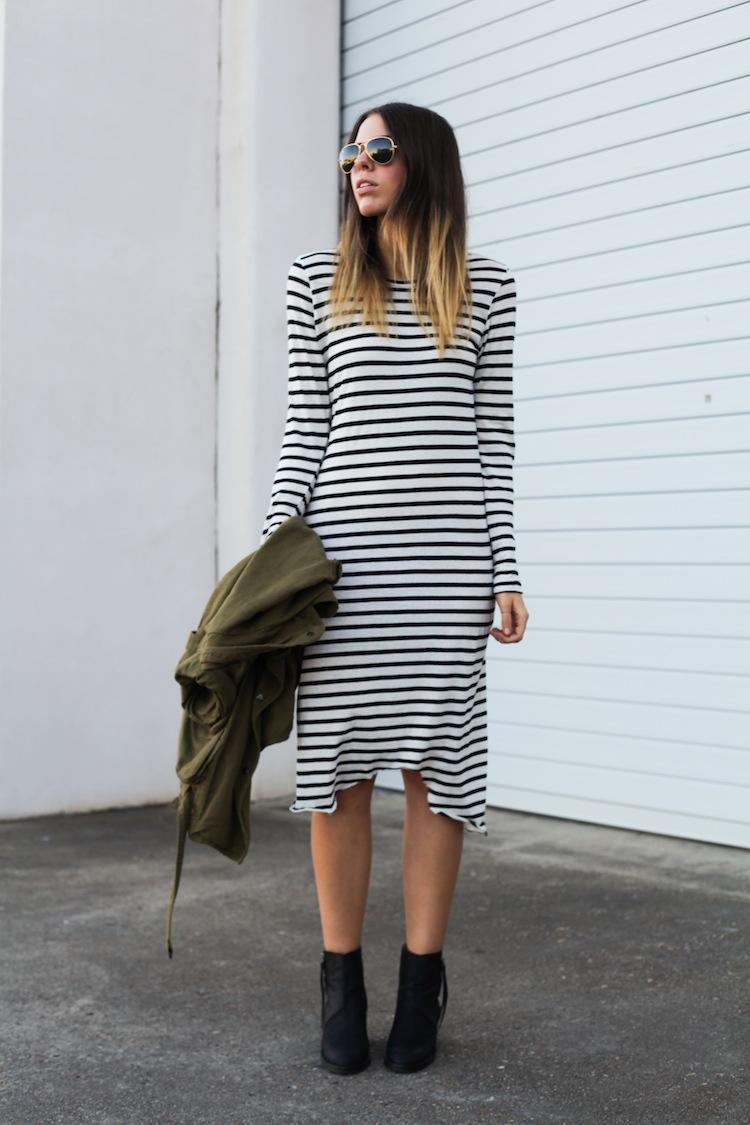 Modern Legacy Fashion Blog Australia ASOS State of Fashion Bassike stripe Isabel Marant khaki Uro Acne Pistol (1 of 1)