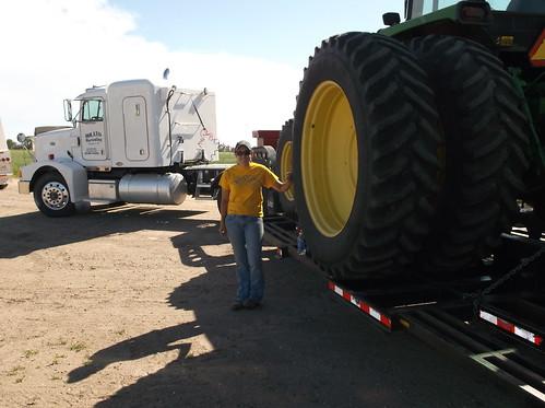 Ashley before hauling the graincart