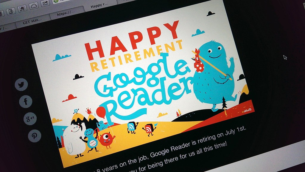 Happy Ritirement Google Reader