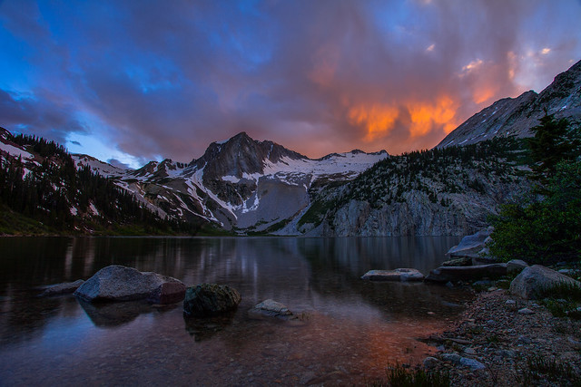 Snowmass Lake sunset
