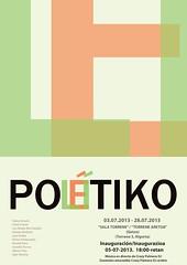 Cartel exposición Político Poético II Sala Torrene