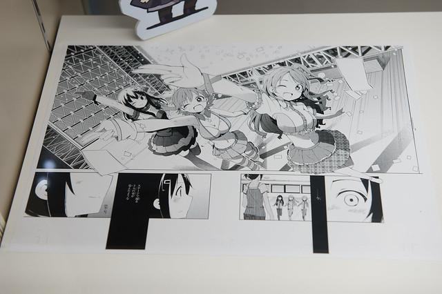 モバマスカフェの展示物