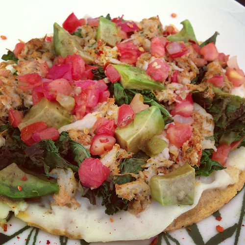 Griddled Crab Mexican Pizza