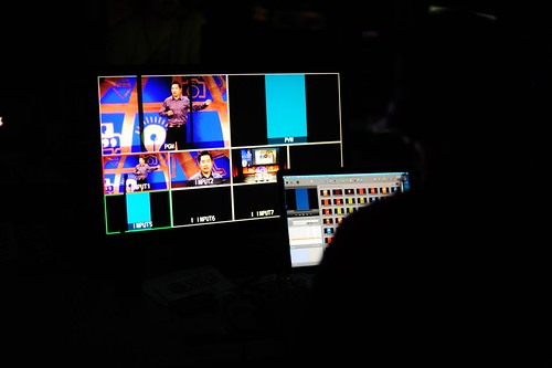 Backstage at WDS 2013 during Jia Jiang's talk