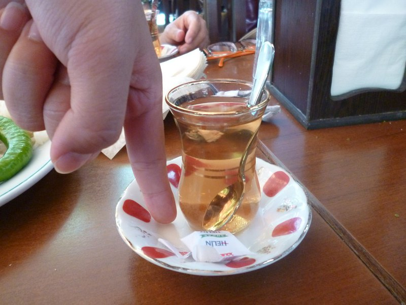 Size of a Turkish glass