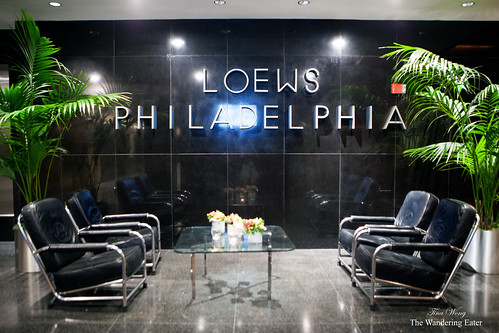 The main lobby of Loews Philadelphia