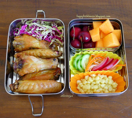 The Mid-Summer Bento: Tebasaki in EcoLunchBox! by sherimiya ♥