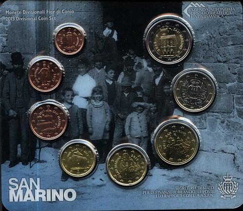 Anverso Cartera Euros 2013 San Marino
