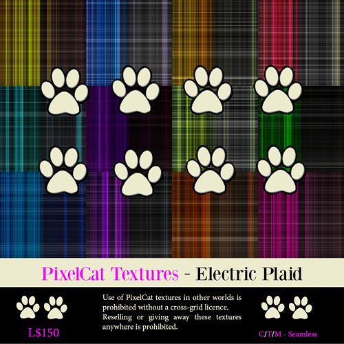 PixelCat Textures - Electric Plaid