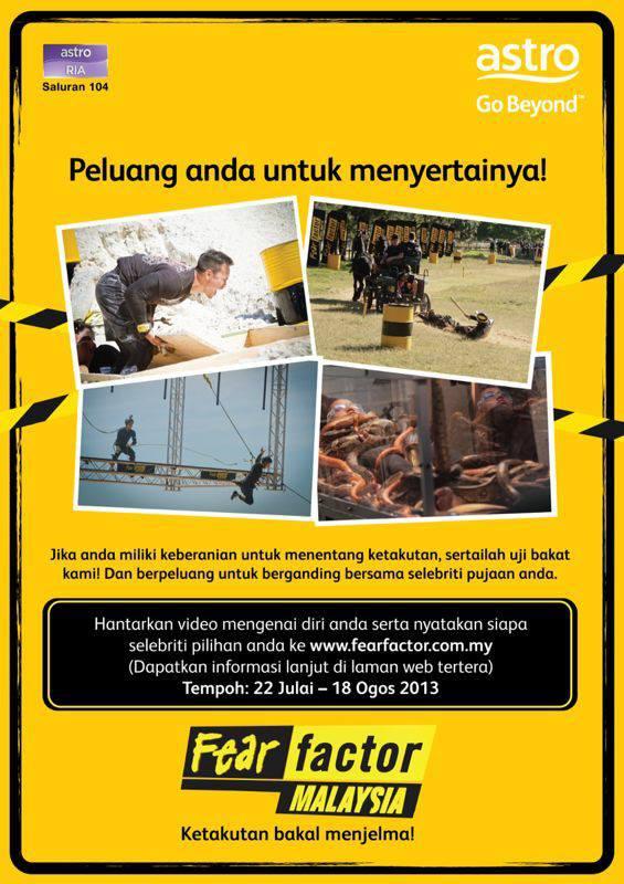 Cara-Cara Untuk Anda Sertai Uji Bakat Fear Factor Selebriti Malaysia