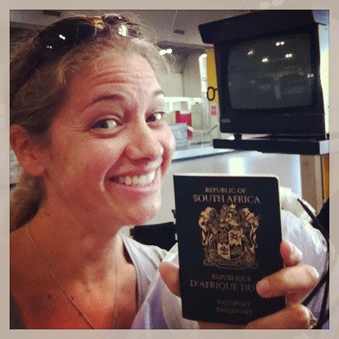 Lindsey after finding the passport!