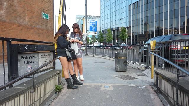 Exit Old Street underground