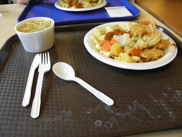 Oběd v místní menze za 7.85$