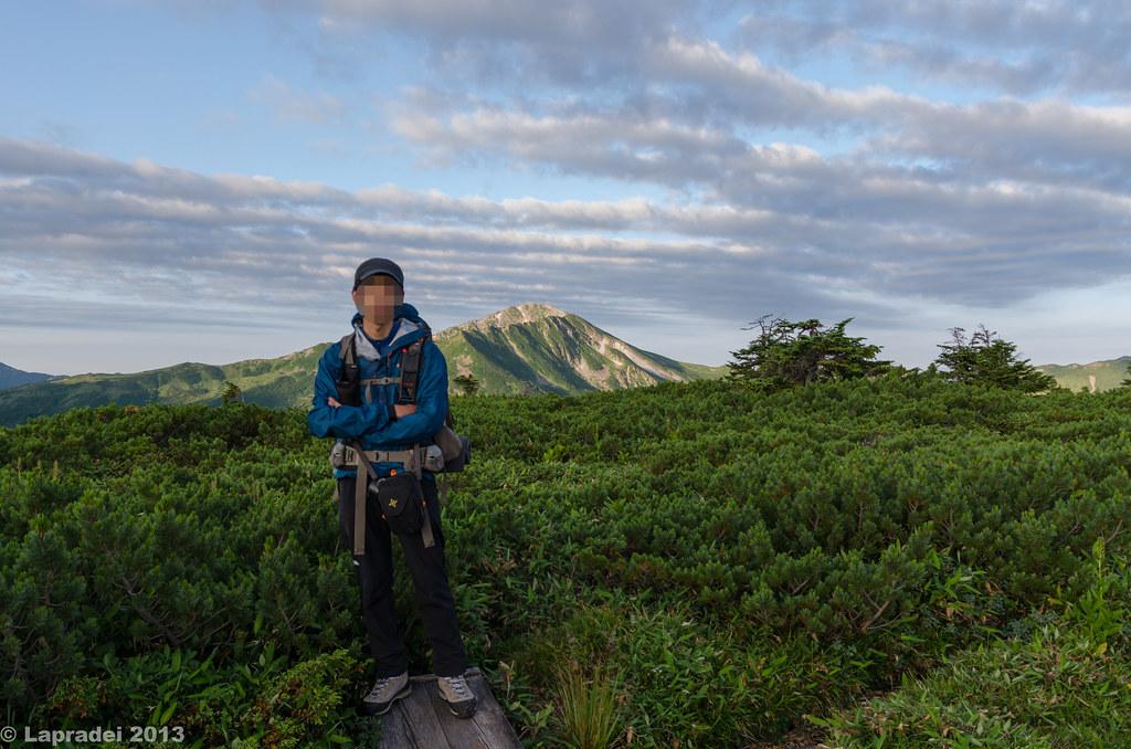 20130812 祖母岳山頂にて