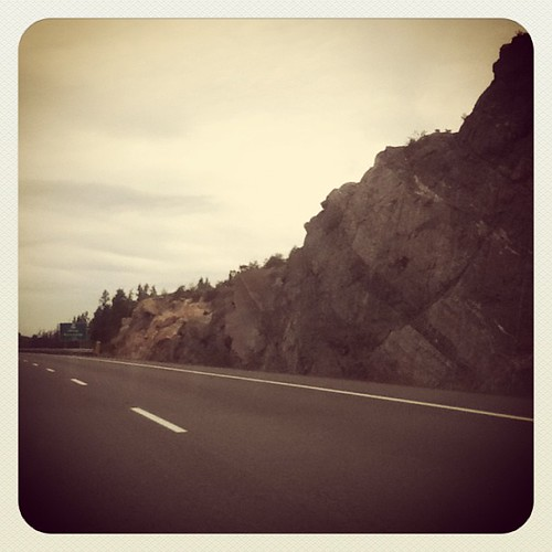 Seeing the rock along the highway is now a sign I'm heading home. #northernontario #canadianshield