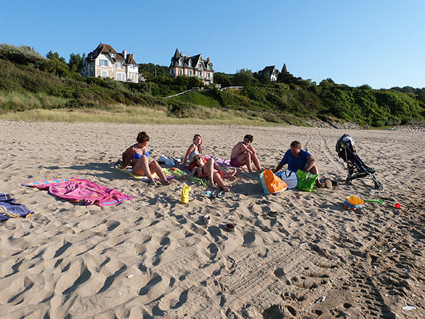 fin d'après-midi sur la plage