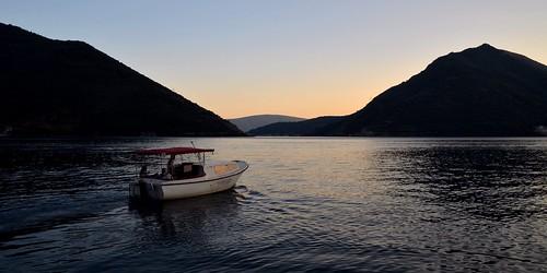 travel sunset boat nikon dusk sigma balkans montenegro perast bayofkotor 1750mm d5100